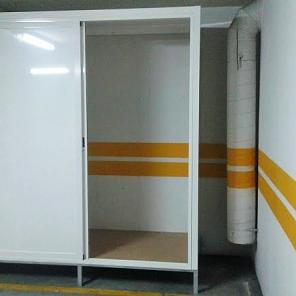 Armário em alumínio para garagem