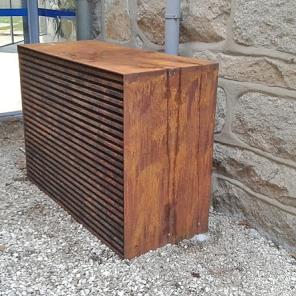 Caixa estética para ar condicionado em aço Cor-ten
